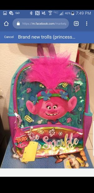 Brand new trolls backpack for Sale in Hemet, CA