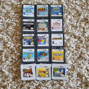 $15 each Nintendo DS and 3DS Games, Mario, pokemon, zelda, sonic, cooking mama for Sale in San Antonio, TX
