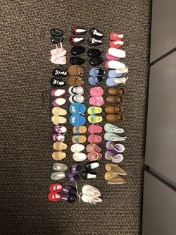 35 Pairs Of Doll Shoes $70 for Sale in Tampa, FL