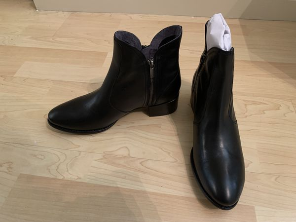 BRAND NEW Size 10 - Black Leather Lucky In Love Bootie