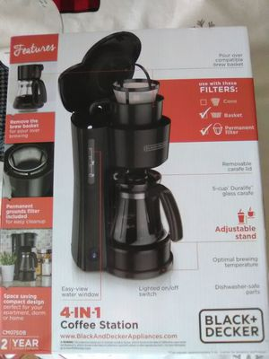Black & Decker 4-n-1 Coffee Maker for Sale in Knoxville, TN