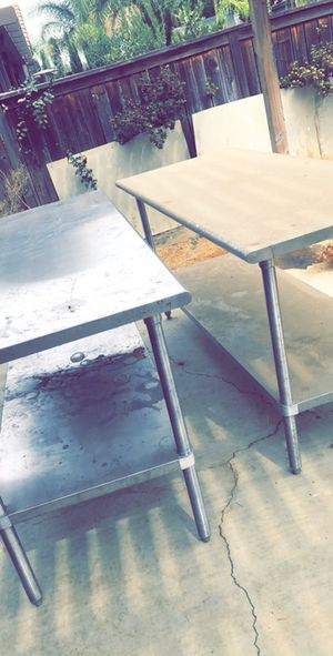 Stainless Steel prep tables for Sale in Nuevo, CA