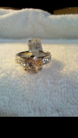 Brand new beautiful blinged out stainless steel and swarovski crystal women's ring size 10 for Sale in Hemet, CA