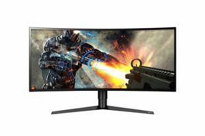 LG 34GK950F-B 34 Inch 21:9 UltraGear™ QHD Curved IPS Gaming Monitor with Radeon FreeSync™ for Sale in Fontana, CA