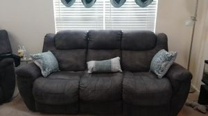 Reclining sofa and matching recliner (Brand name unknown) for Sale in Linfield, PA