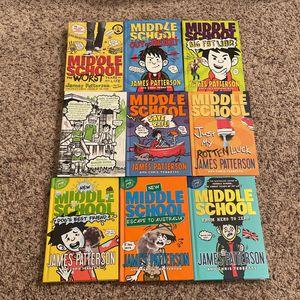 Middle School Books 1,2,3,4,6,7,8,9,10 for Sale in Alamo, CA