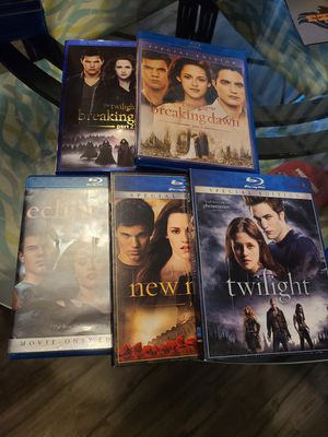 Twilight saga blu rays for Sale in Lacey, WA