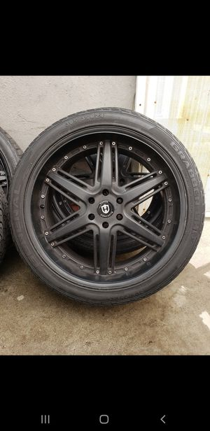"24"" Black Matte Finish Rims/Wheels for Chevy for Sale in Phillips Ranch, CA"