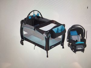 Car seat and bed set - evenflo for Sale in Cambridge, MA