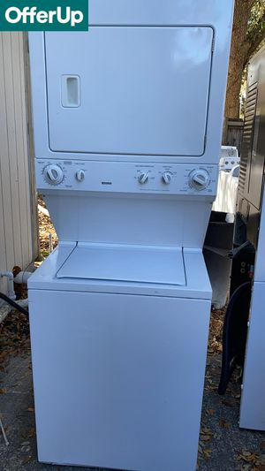Kenmore Laundry Center Washer Electric Dryer Set Works Perfect #1266 for Sale in Orlando, FL