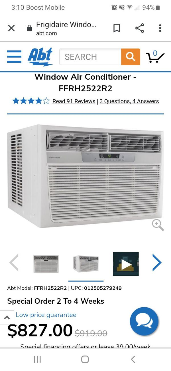 A/C and heater 220 volt wall unit 24000 btu and 16000 heat AIR conditioner