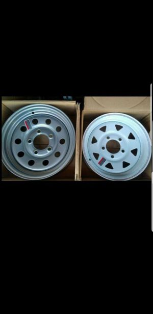 New 175/80/13 Trailer Tires mounted on New Wheels/Rims 5 lug 5x4.5 for Sale in Moreno Valley, CA