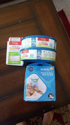 Diaper genie/carbon filter/stretch bath toy bag for Sale in Chandler, AZ