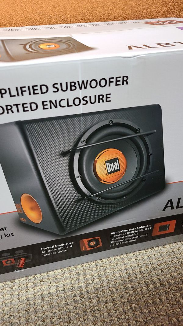 """Car audio Subwoofer 10"""" with internal amplifier"""