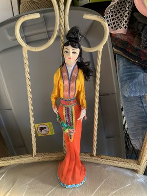 "Oriental antique doll 11 1/2 "" tall for Sale in Hanover, MD"
