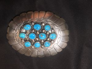 Sterling silver and turquoise Vintage belt buckle. Make Offer for Sale in Dublin, OH