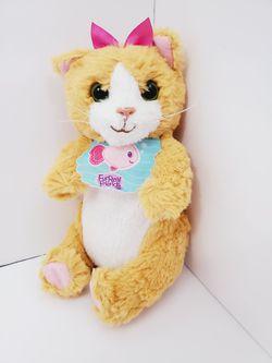 "furreal friends baby Hasbro Daisy orange kitty cat kitten plush with bib 6.5"" for Sale in Brooklyn,  NY"
