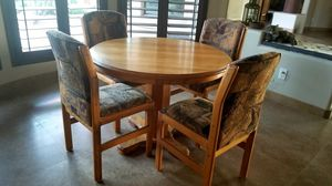 Round Solid Oak Table for Sale in Carefree, AZ