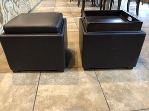 Stool and Ottoman for Sale in Seattle, WA