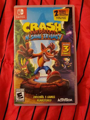 Nintendo Switch Game Crash Bandicoot Nsane Trilogy for Sale in Hacienda Heights, CA