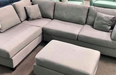 New Gray Sectional Couch Only $50 Down Payment for Sale in Torrance,  CA