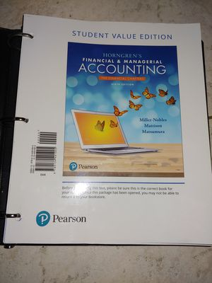 Financial & Managerial Accounting Textbook for Sale in Plantation, FL