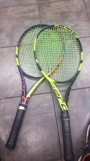 Letting go 2 babolat pure aero rackets for Sale in West Hollywood, CA