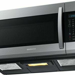 Samsung - 1.9 Cu. Ft. Over-the-Range Fingerprint Resistant Microwave with Sensor Cooking-Stainless Steel - Fingerprint Resistant Stainless Steel for Sale in North Las Vegas, NV