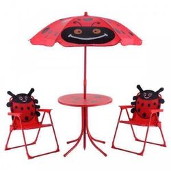 Kids Ladybug Shaped Patio Folding Table and Chairs Set for Sale in Los Angeles,  CA
