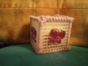 Plastic canvas jewelry box for Sale in Somerset, OH