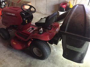 Troy bilt pony riding lawn mower with bagger for Sale in Littleton, MA