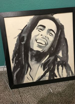 Bob Marley picture and frame for Sale in Cedar Hill, TX