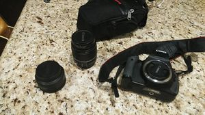 Canon rebel t3i with lenses for Sale in Plano, TX