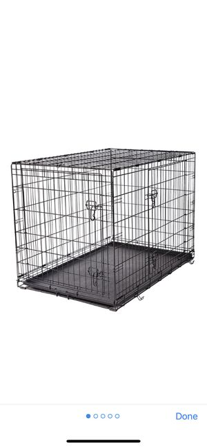 Frisco fold & carry double door dog crate 42-in for Sale in Seattle, WA