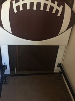 Football Headboard and Metal Frame for Sale in Florissant,  MO