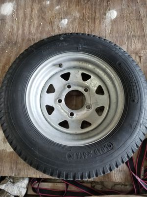 Trailer tire 5.30 x12 5 lug (2) for Sale in Hialeah, FL