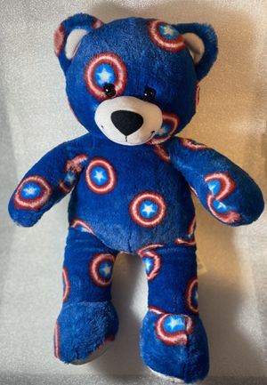 "Build a Bear Captain America Marvel Avengers Teddy Bear 16"" Plush Toy like new for Sale in Gresham, OR"