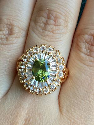 18k gold plated cz AAA ring women's jewelry for Sale in Spencerville, MD