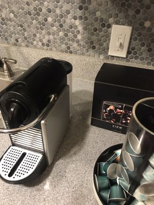 Nesspresso type-D60 with pods and pod case for Sale in Dallas, TX