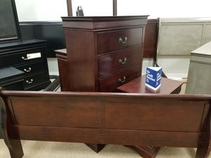 NEW! Louis Philippe Queen Bedroom Set - Cherry (Available in all sizes, 5 colors to choose from) for Sale in Clayton, NC