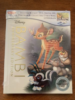 Disney's Bambi Limited Edition Blu-Ray with Digital Copy for Sale in Las Vegas, NV