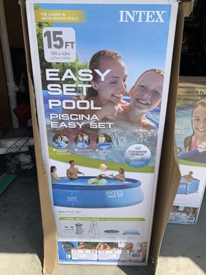 Intex 15ft x 42in Easy Set Up Inflatable Above Ground Swimming Pool Set for Sale in Oakdale, PA