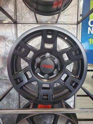 17x8 6x139 et5 satin black trd pro wheels fits 4runner FJ cruiser Tacoma toyota Lexus GX rim wheel tire shop for Sale in Tempe, AZ