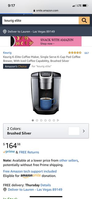 Keurig Elite coffee maker (Basically new) for Sale in Las Vegas, NV