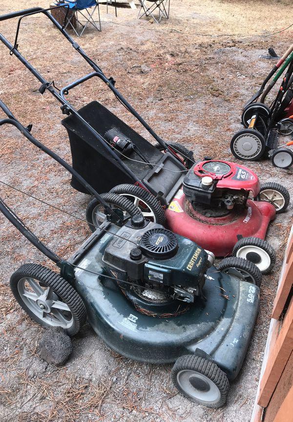 Two good mowers both need work