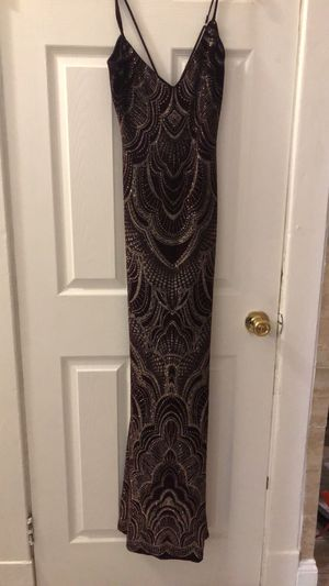 Gold and dark brown dress for proms or wedding for Sale in St. Louis, MO