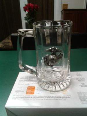 12 oz USMC drinking mug with pewter accents for Sale in Orlando, FL