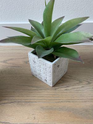 Fake Plant in white pot for Sale in Dallas, TX