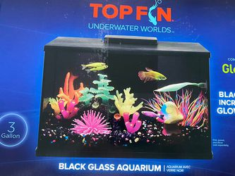Black Glass 3 Gallon Glo Fish Aquarium for Sale in Charlotte,  NC