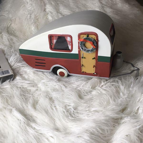 Christmas trailer home decor holiday new!!!